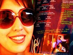 (Michin) Tags: food reflection mouth glasses anamara cartagena anthonybourdain