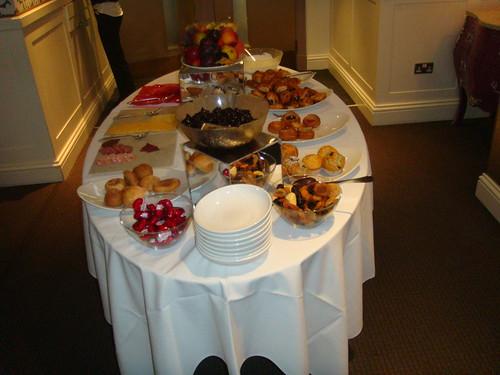 Buffet continental de desayuno