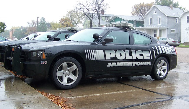 car buildings police northdakota dodge cruiser jamestown