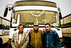 Drivers (AgusValenz) Tags: people bus nikon gente soviet coolpix centralasia kazakhstan autobus kazakh drivers eurasia p80 choferes казахстан казакстан karabatan kazajos