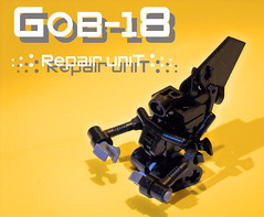 GOB-18 Repair Unit (Battledog) Tags: shop robot lego mechanical cleaning future fixing futuristic mechanics bot repairs unit moc