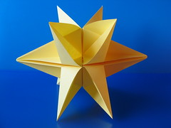 Stella a 10 punte - 10 pointed star (f.guarnieri) Tags: christmas xmas stella sculpture holiday art natal paper paperart weihnachten square star navidad 3d origami arte geometry estrela symmetry ornaments modular estrellas papel nol stern natale papier decorao estrella paperfolding papiroflexia homedecor carta dcoration simmetria unit papercrafts dcor toile geometria decorazione ornement dekoration decoracin ornamento  dobradura    ornamentos geometricart pliage 10point  strellas papierfalten 10pointed fguarnieri