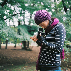 first camera (miki**) Tags: park camera 120 friend first hasselblad rolleiflex35f
