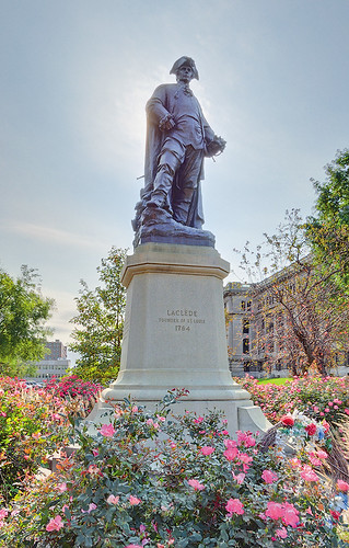 Statue of Pierre Laclède Liguest, in Saint Louis, Missouri, USA