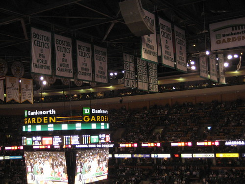 Boston Celtics Raise Banner 17 at Opening Night