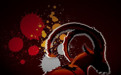 Ubuntu 8.10 Intrepid Ibex Wallpapers - abstractibex_richsplat