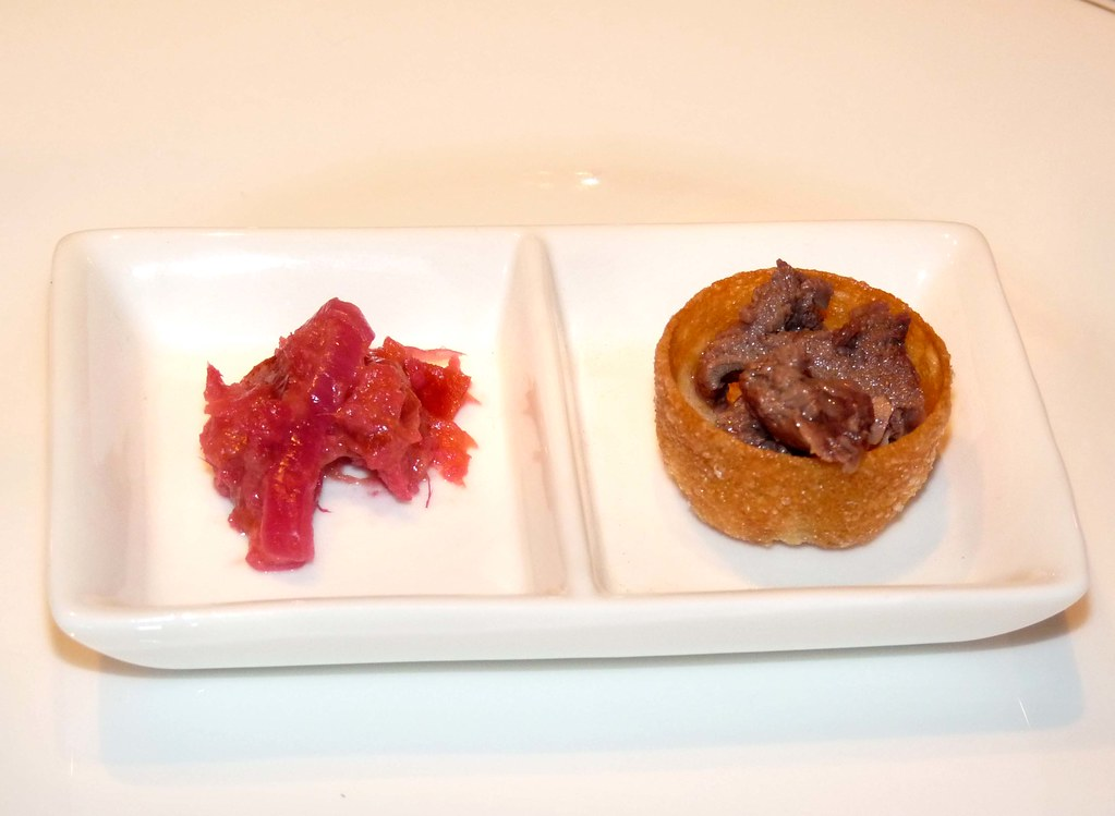 Woodpigeon Confit Croustades with Plum and Ginger Chutney