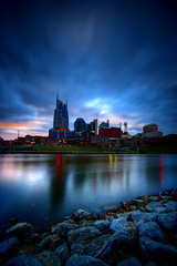 river (cwage) Tags: skyline river nashville photoblog cumberland exif:iso_speed=100 exif:aperture=f35 camera:model=canoneos20d exif:focal_length=10mm meta:exif=1248332427
