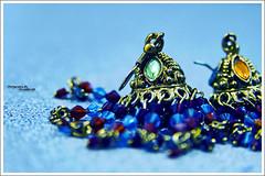 .Queen.of.Hearts. (MiracleGirl) Tags: blue macro slr earings hearts photography focus dof sigma queen hue miraclegirl sd14
