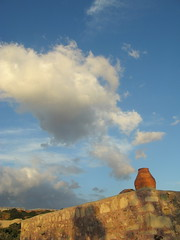 late afternoon on the beach (venetia 27) Tags: chimney house stone clouds october shadows hill crete greenhouses diaskari