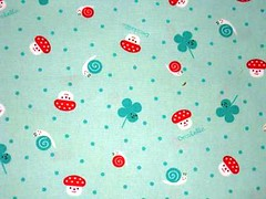 Mushroom, Snails and Clovers (This and That From Japan) Tags: mushrooms happy dots snails clovers decole decolello japanjapanesecutekawaiifabriccotton