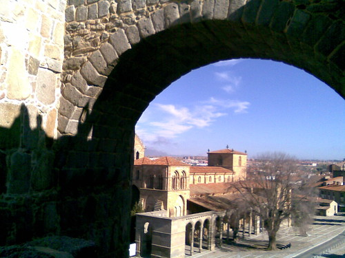 View through city gate