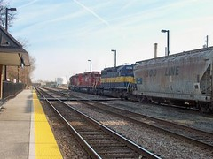 Eastbound Iowa, Chicago & Eastern freight train. Chicago Illinois. December 2006.