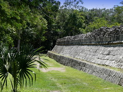 Great Wall At Chichen Itza (Butch Osborne) Tags: city travel mexico temple ancient ruins maya culture yucatan mayan mayanruins historical cancun traveling antiquity mustsee mayanculture yuccatan mayancity bucketlist