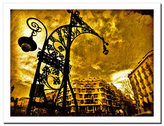 La Pedrera (Barcelona)...another point of view.- (ancama_99(toni)) Tags: street leica old city trip travel vacation urban espaa house holiday abstract color building art texture yellow familia sepia architecture clouds photoshop vintage buildings geotagged lumix photography photo interestingness interesting spain espanha europa europe cityscape arte photos streetlamps antique cityscapes modernism photographic catalonia panasonic explore textures artnouveau gaudi gaud layers catalunya 2008 abstracto espagne sagrada modernismo texturas barcellona catalua modernisme pasoscatalans lapedrera urbanas urbanscapes antoniogaud antonigaudi catalogne supershot fz7 dmcfz7 25faves aplusphoto holidaysvacanzeurlaub ancama99 interesantsimo