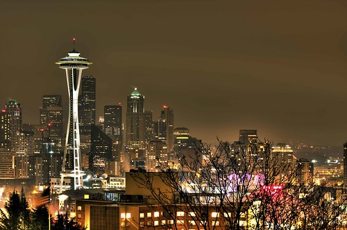 Seattle Skyline at night LR