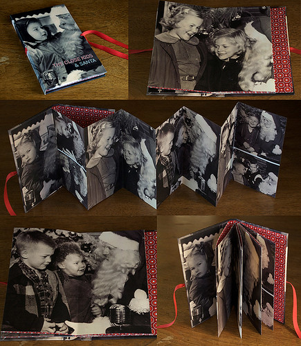 old santa photos - accordion book