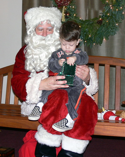 Davey with Santa