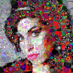 you'll know know know (Village9991) Tags: portrait people color star amy mosaic deception photomosaic pop illusion points dots popstar winehouse irregular amywinhouse village9991 graphicmaster