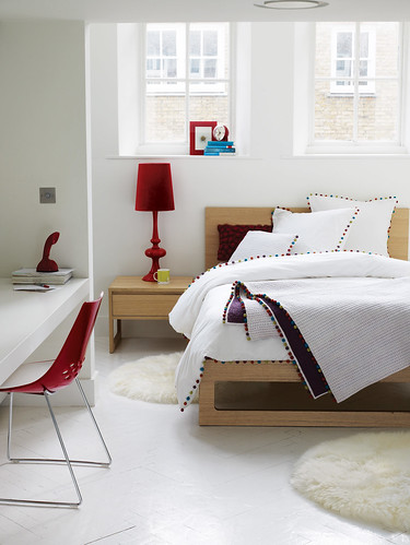 Heal's Leon Bed and Pom Pom Bed linen