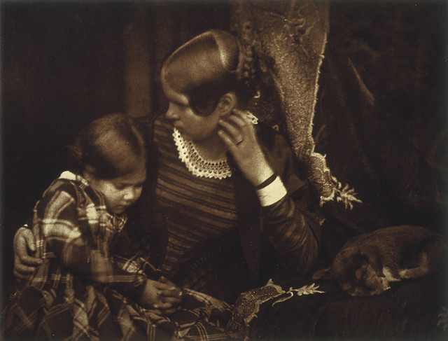 Harriet Farnie and Miss Farnie with a Sleeping Puppy Brownie by National Galleries of Scotland Commons
