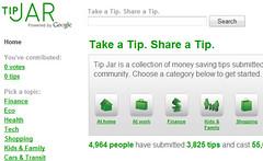Tip Jar met tips om te besparen