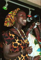 Mac Tontoh Project from Ghana at the Africa Centre London July 2001 008 with Vida Abena Owusua (photographer695) Tags: world africa from 2001 abena music london mac african centre band july jazz ghana vida warriors ashanti kete trumpeter amanas osibisa tontoh owusua nanaeba exosibisa