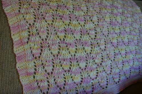 blocked baby blanket