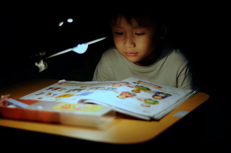 bambino legge