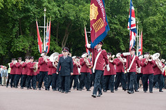 ISB120 2011 032 (Howard.) Tags: music playing london band flags parade marching instruments brass 2011 staffband isb120