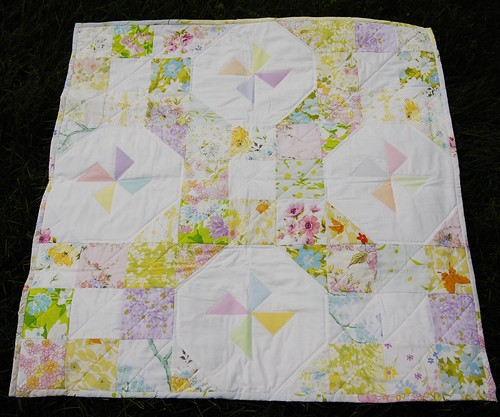 Vintage Sheet Baby Quilt