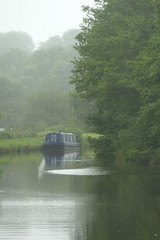 Narrowboat in the Mist by Tim Green aka atoach