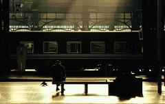 Per la stessa ragione del viaggio, viaggiare (Emmanuele Contini) Tags: travel milan travelling station lights waiting milano bahnhof trains passengers voyager railways viaggio treni mailand stazionecentrale viaggiatore viaggiare contnibb