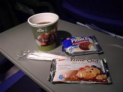 In flight snack, KLM flight KL1939 AMS-GVA