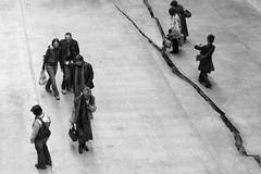 Shibboleth (bitrot) Tags: bw sculpture london modern floor artgallery tate tatemodern turbinehall crack jagged lightning powerstation bankside fissure banksidepowerstation shibboleth dorissalcedo