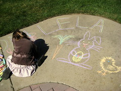 Drawing on the Sidewalk