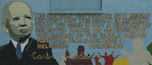 Mural with Carter G. Woodson quote