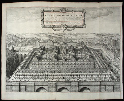 Engraving of Solomon's Temple from 1660 King James Bible (pub. John Field) (PBA)