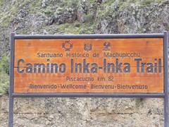 Trek Inka Trail panneau