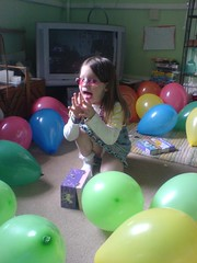 and when she said the magic words, thousands of balloons appeared (frais) Tags: balloons multicoloured surprise