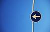the magic numbers:don't give up the fight (visualpanic) Tags: barcelona blue urban vertical metal bcn abril minimal urbano arrow blau 2008 signal metall mycity señal flecha senyal fletxa urbà lalimasriera