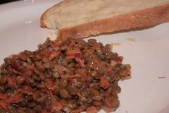 Lentil Salad (MeganAP) Tags: cooking vegan carrots redonion crustybread veganomicon frenchlentils brownlentils