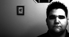 Haircut. (Day 196.) (LividFiction) Tags: blackandwhite haircut selfportrait window face wall hair photo head picture frame spikey spikes spiked orlandofl 365days lividfiction