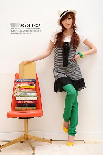 綠色窄管褲