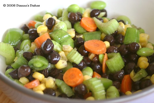 Black Chick Pea Salad