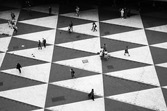 Divine strategy (v.ir.g.il.e) Tags: city people urban blackandwhite bw architecture square triangle sweden stockholm nb sergelstorg sverige tcentralen plattan photophilosophy  visiongroup geometrictonalvision thegoalistoplay iflifeisagame
