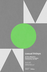 Casual Fridays Poster (_Untitled-1) Tags: geometric circle poster square design triangle screenprint industrial graphic fluorescent osaka casual network helvetica complex fridays altamira pantone