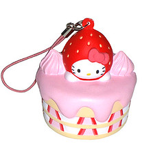Hello Kitty Shortcake phone strap (pkoceres) Tags: pink food cake japan dessert strawberry hellokitty cream cellphone squeeze sanrio mascot foam strap squishy whipped phonestrap shortcake      boughtatsanriostore hellokittystrawberry