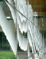 Speedo (robep) Tags: uk cambridge england distortion reflection window glass swimmingpool