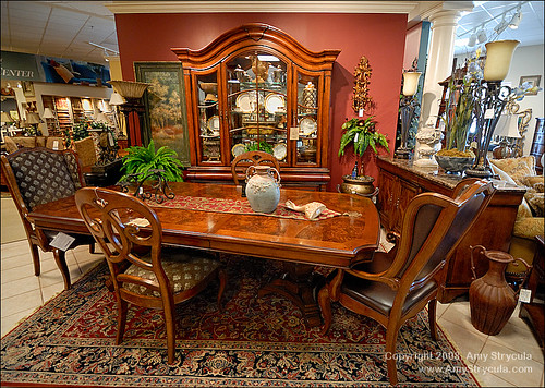 Dining Room in Furniture Store,house, interior, interior design, dining room